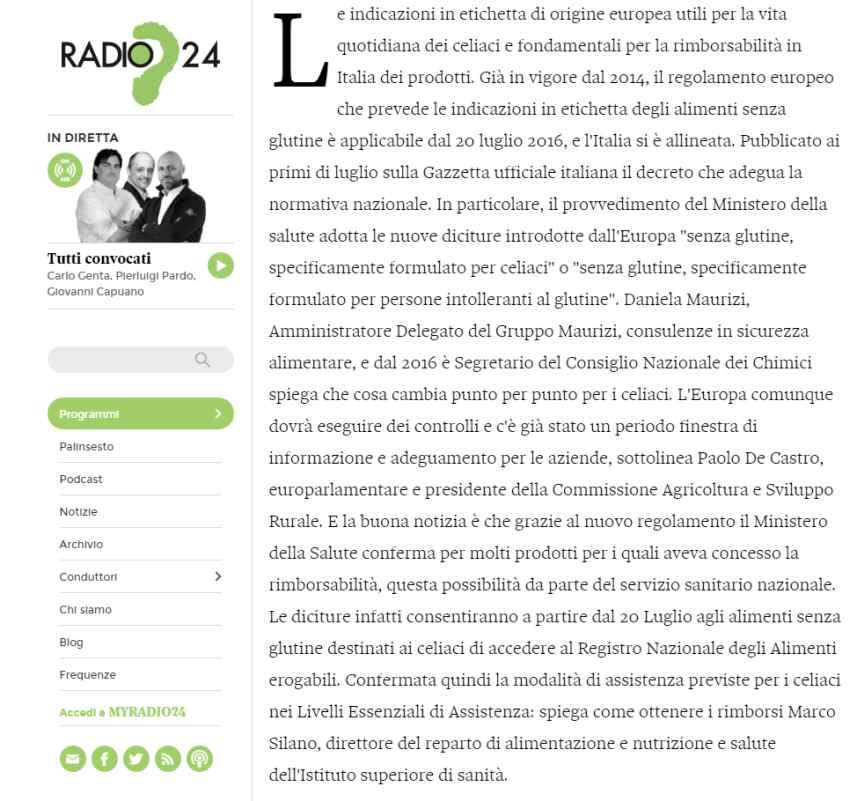 radio 24 intervista Daniela Maurizi