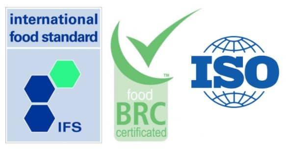 certificazioni brc ifs iso loghi