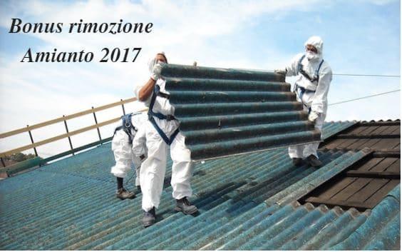 bonus rimozione amianto 2017