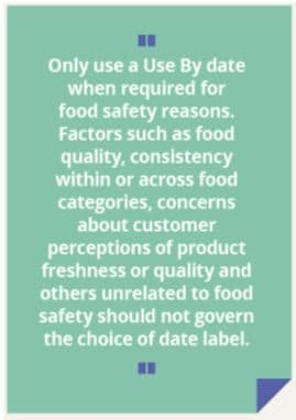 use by date uk guidance