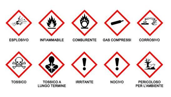 schede di sicurezza pericoli chimici